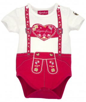 Body halbarm 'Hosenträger Herz' (Baby Body)