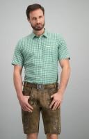 Widok: Tradycyjna koszula Renko w kolorze ciemnozielonym