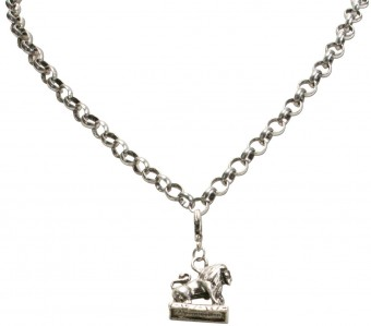 Trachten Coat of Arms Pendant, Antique Silver