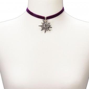 Samtkropfband Helene lila