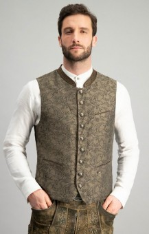 Trachten vest Pepe in brown