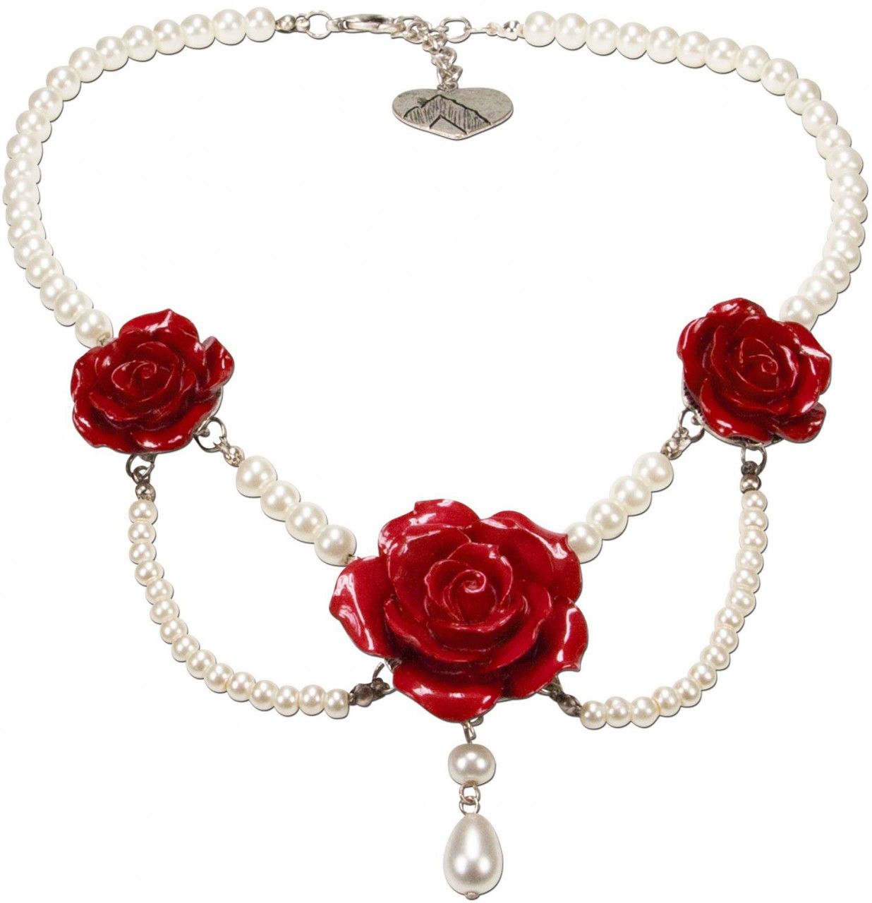 Pearl necklace Karina red