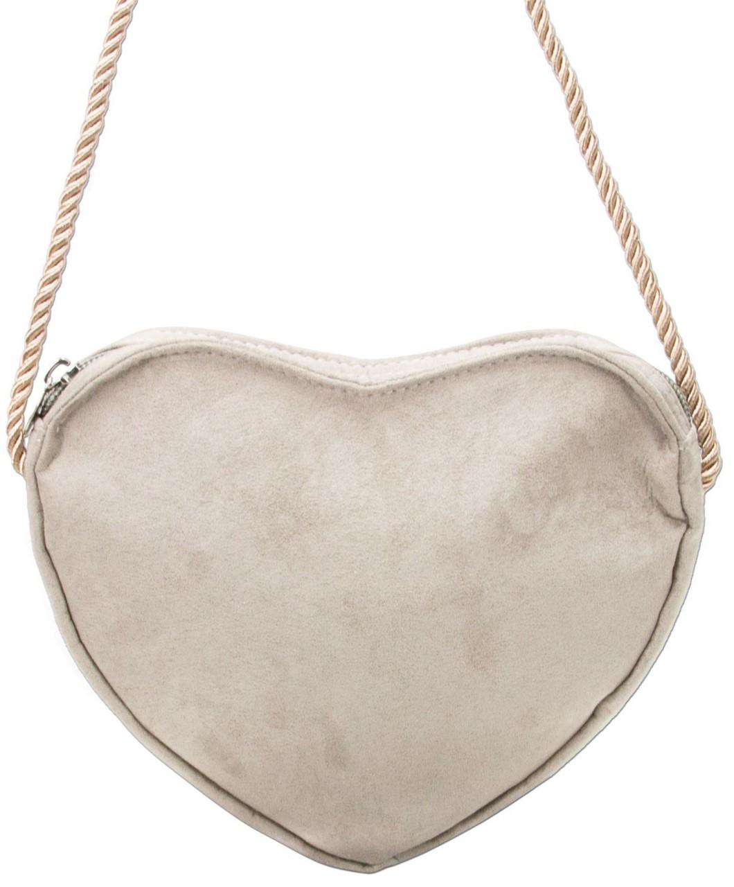 Herztasche Trachtentasche beige