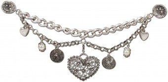 Charivari Chain Fiona, Antique Silver (with Pins)