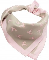 Preview: Trachten Tuch Hirschfestl rosa- beige