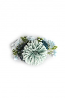 Blauer Blüten Haarkamm Hortensia