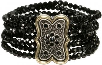 Trachten-Perlenarmband Lorelei schwarz