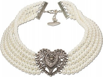 Perlen-Collier Eugenie cremeweiß
