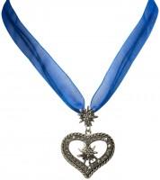 Widok: Naszyjnik kostium Organza Maria niebieski