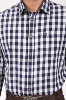 Trachtenhemd Armin blau
