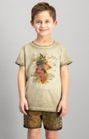 Trachtenshirt Monty for kids sand