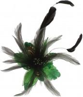 Vorschau: Federbrosche Julia grün