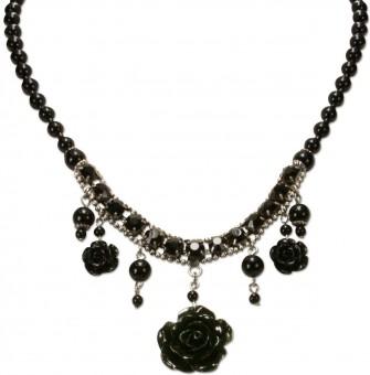 Perlenkette Jolina schwarz