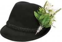 Vorschau: Trachtenhut Filzhut schwarz Edelweiß