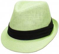 Vorschau: Trachten-Strohhut schlicht hellgrün