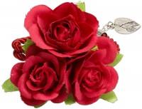 Vorschau: Blüten-Armband Celina rot