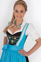 3-piece light blue longer-length dirndl