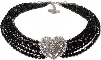 Perlen-Collier Eugenie schwarz