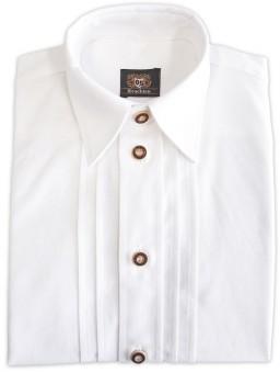 Trachtenhemd Leonard weiß