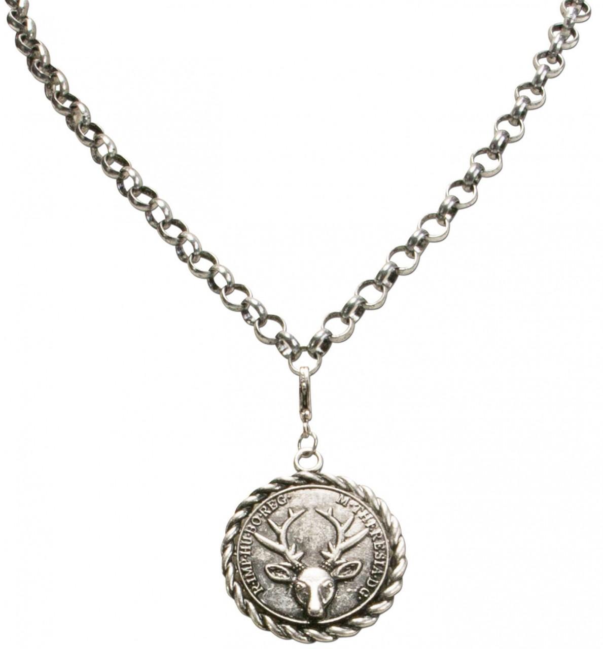 Anhänger Hirschkopf- Münze
