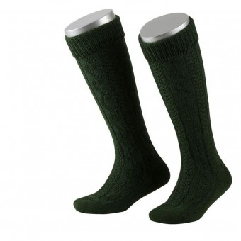 Kinderstrumpf mit Kniebund in Grün