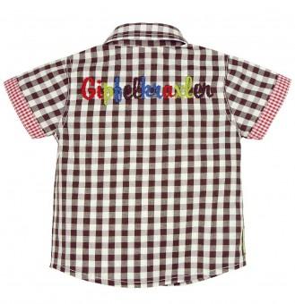 """Koszula w kratę """"Gipfelkraxler"""" brązowo-biała"""