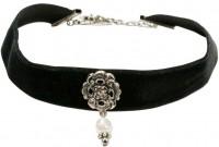 Vorschau: Trachten Kropfband mit Ornament schwarz