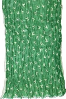 Trachtenschal hüpfende Hirsche grün