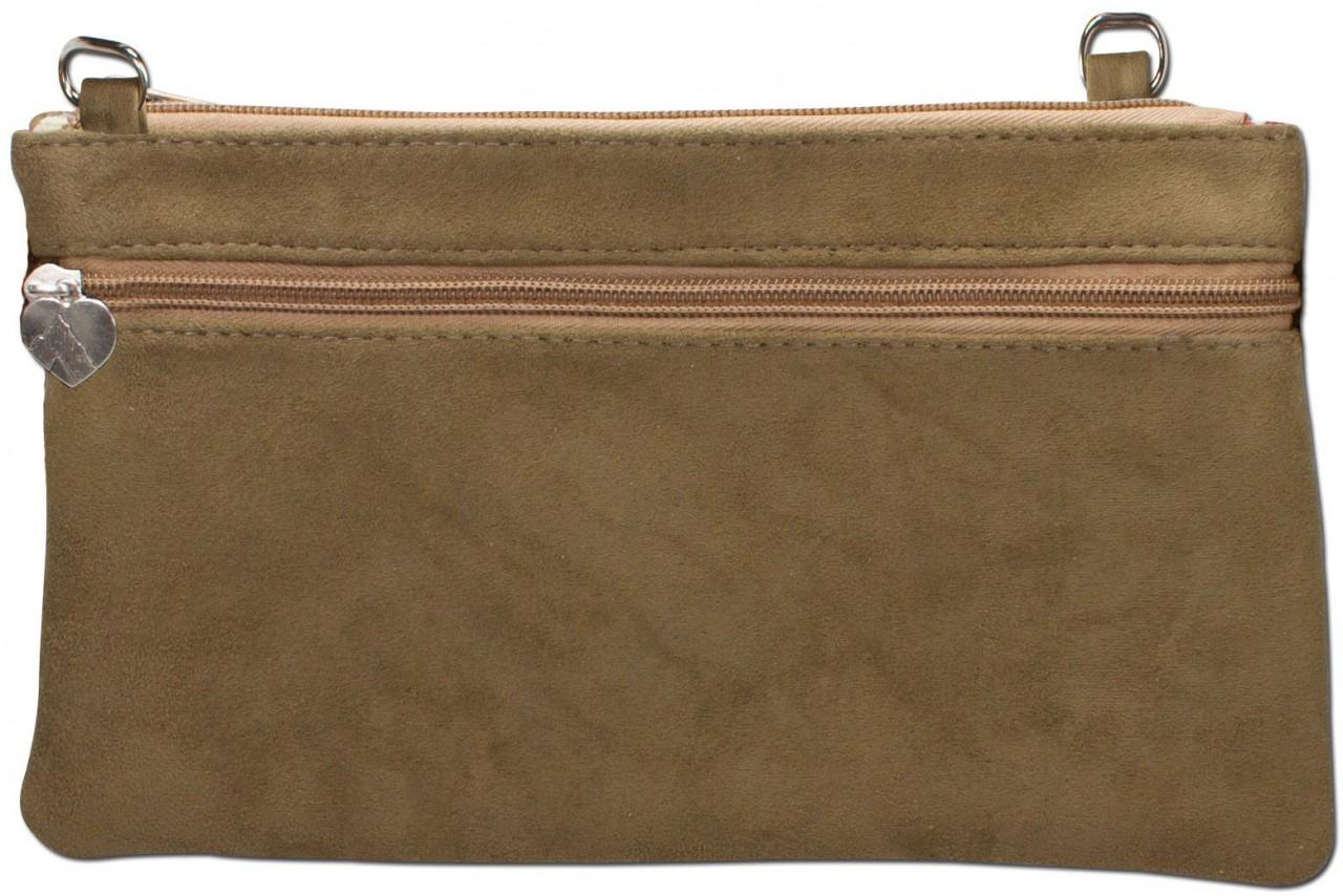 Clutch Trachtentasche grün Hinterseite