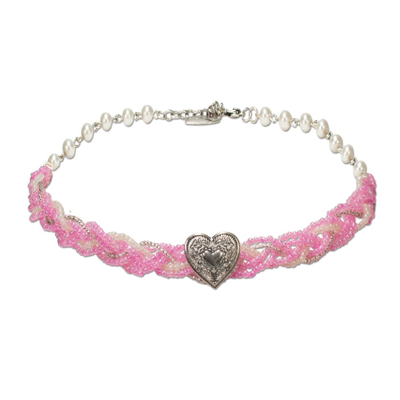 Perlenkette Manou rosé
