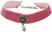 Vorschau: Trachten Kropfband mit Ornament rosa
