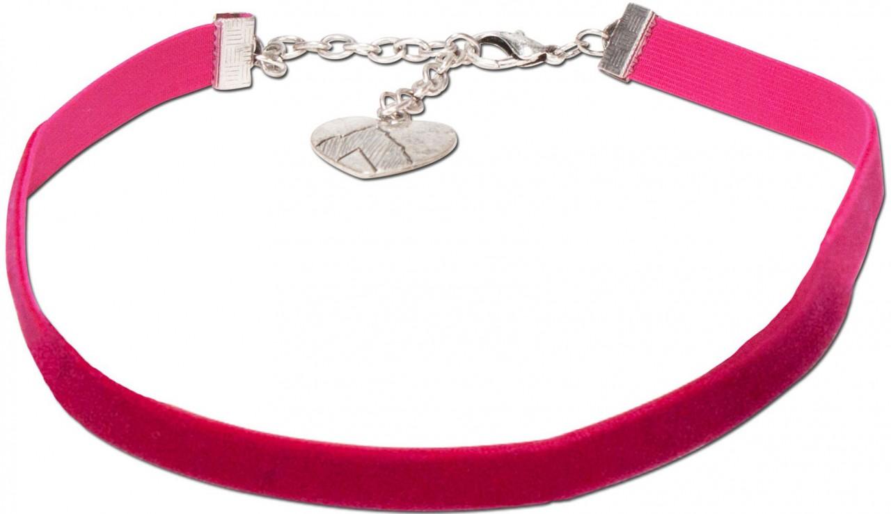 Trachten Samtkropfband Paula pink
