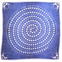 Vorschau: Trachtentuch verliebter Hirsch blau